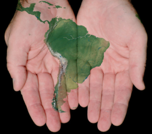 Boutique South America continent in your hands