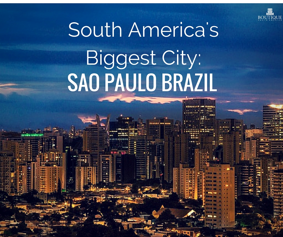 South Americas Biggest City Sao Paulo Brazil South America Is Known For