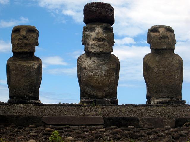 Petroglyphs in Eastern Island