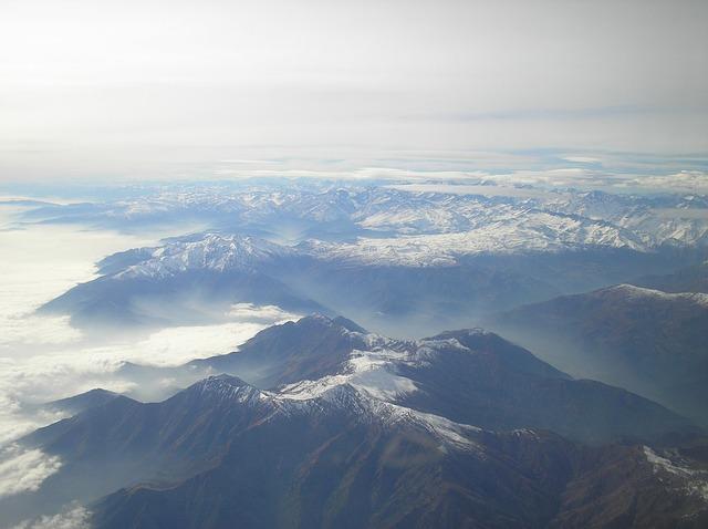 Villarica volcano from above