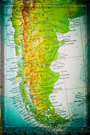 """Traveler route - Patagonia. Photos from my successful set """"Traveler's route"""". This time processing in vintage effects."""