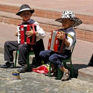 Accordion playing