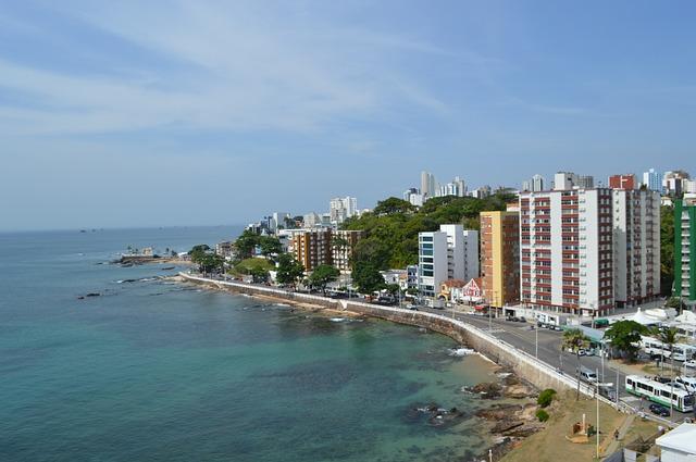 Coastline in Salvador Brazil