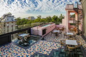 Luciano K Santaigo hotel rooftop terrace